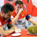 Video : Reaksi Pemain Arsenal Bila Mencuba Durian