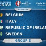 EURO 2016 : Jadual dan Keputusan Kumpulan E
