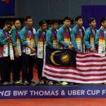 Senarai Pemain Malaysia Untuk Piala Thomas & Uber 2016